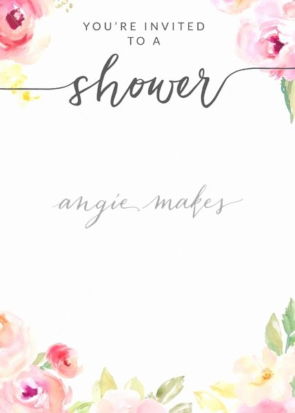 Flower Invitation Template Luxury Download This Watercolor Flower Shower Invitation Template