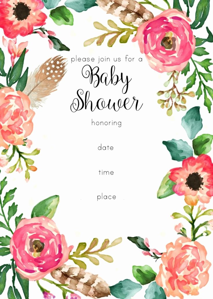 Flower Invitation Template Unique Best 25 Floral Baby Shower Ideas On Pinterest