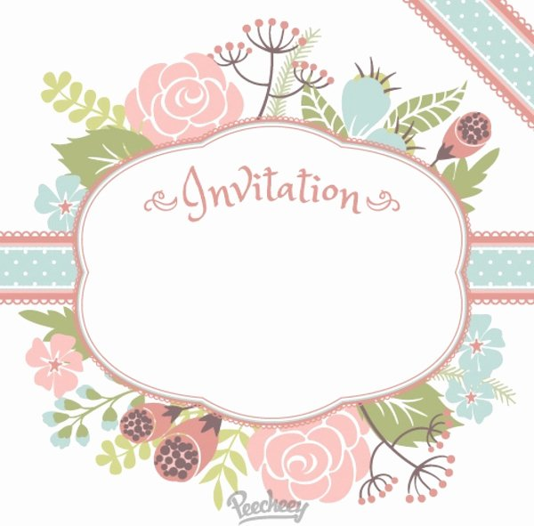 Flower Invitation Template Unique Floral Invitation Free Vector In Adobe Illustrator Ai