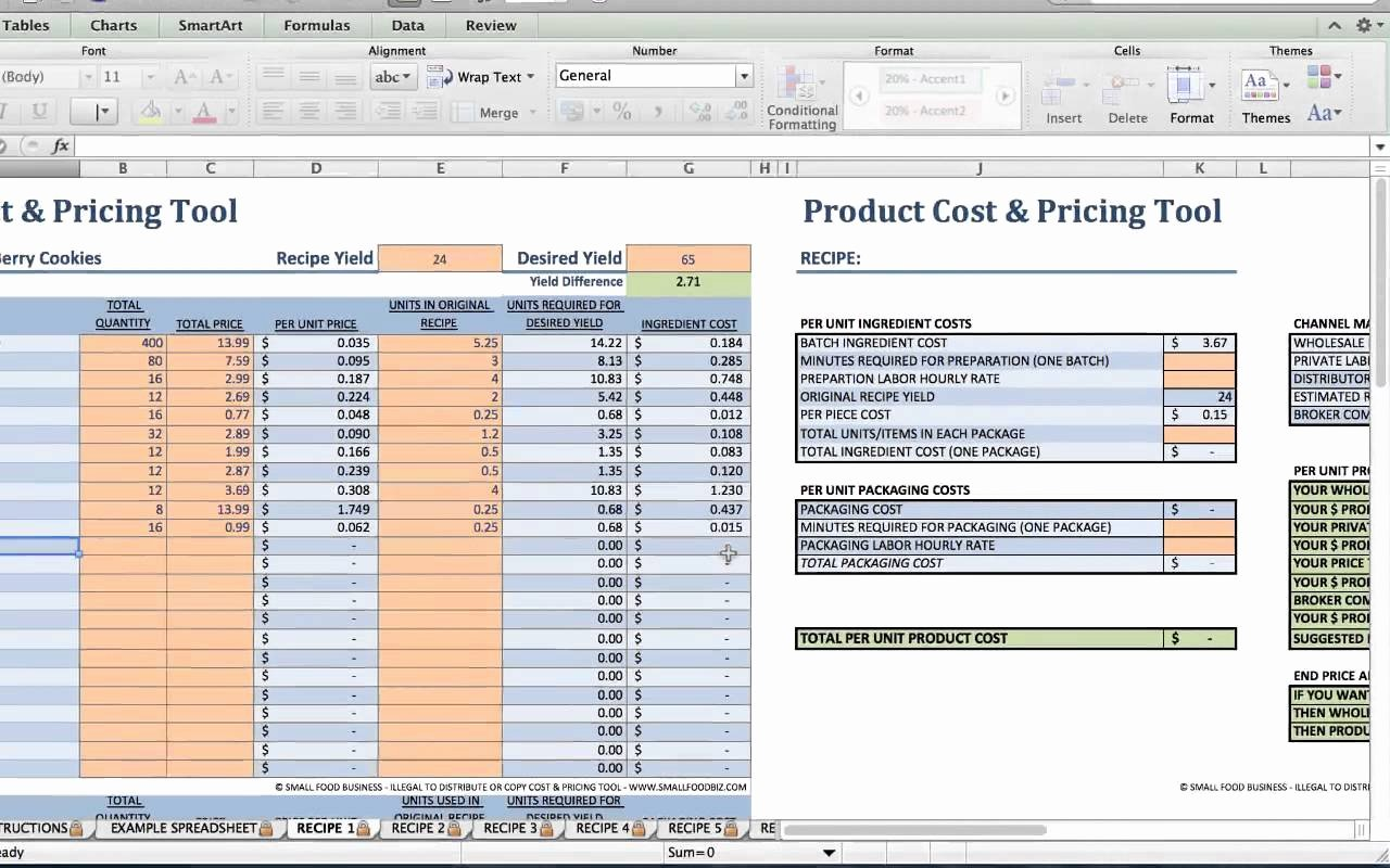 Food Cost Spreadsheet Excel Fresh How to Create A Food Cost Spreadsheet