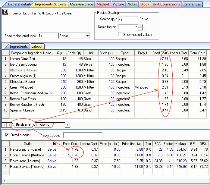 Food Cost Spreadsheet Excel Inspirational Resort software Resort Executive Product Description