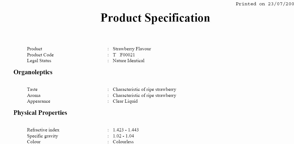 Food Product Spec Sheet Template Beautiful Documentation Configuration and Generation In Pistachio
