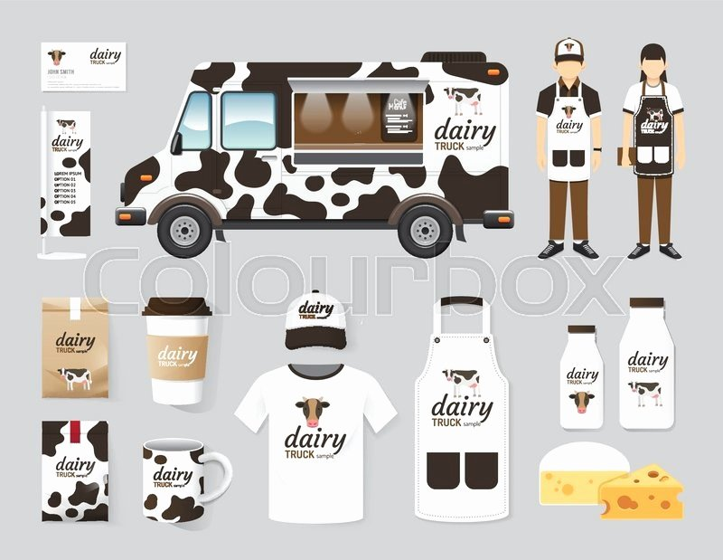 Food Truck Layout Template Awesome Vector Restaurant Cafe Design Set Street Dairy Food Truck