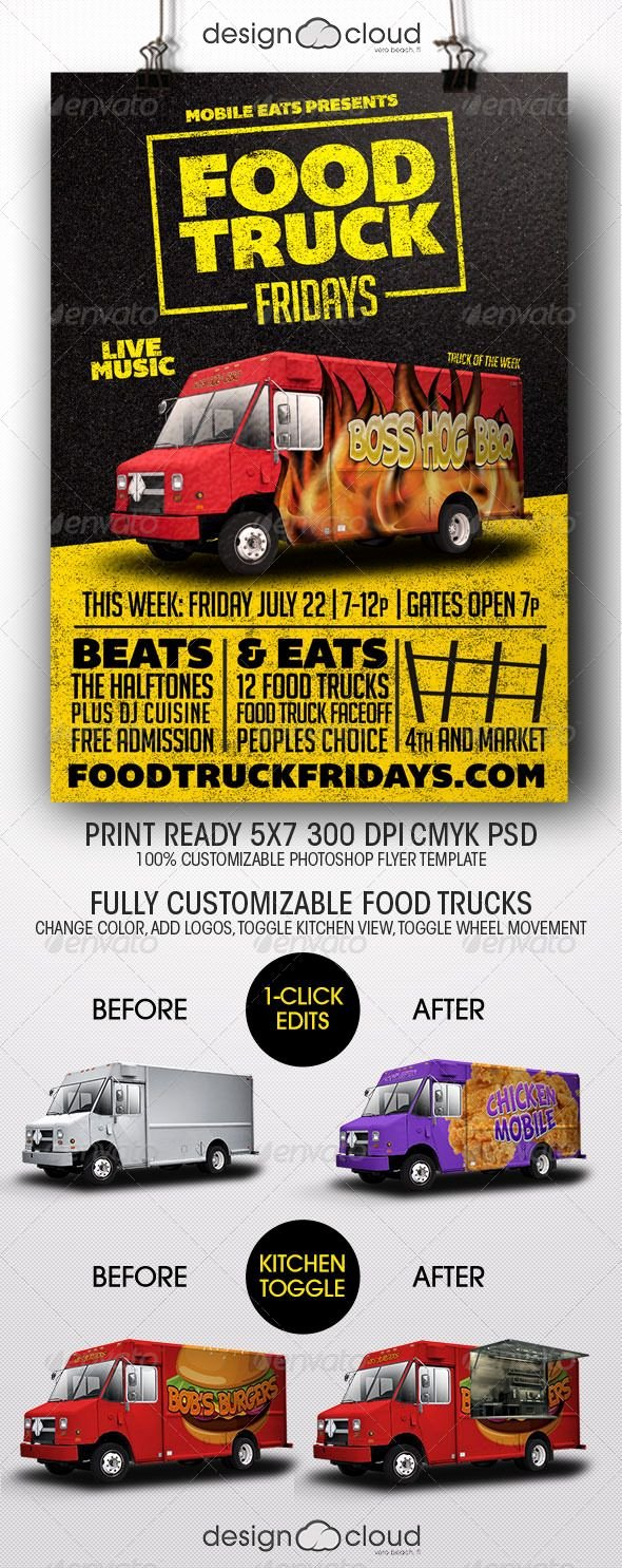 Food Truck Layout Template Best Of Food Truck Fridays Flyer Template