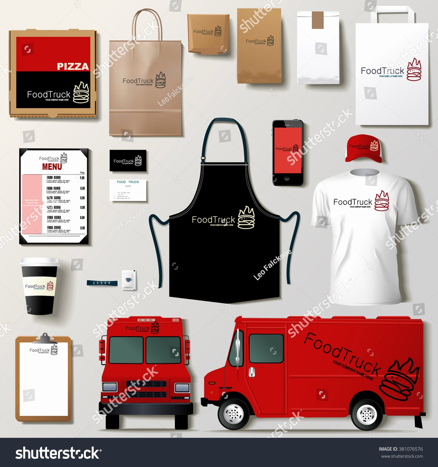 Food Truck Layout Template Best Of Vector Food Truck Corporate Identity Template Design Set