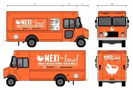 Food Truck Layout Template Elegant Branding Mexi Local Food Truck On Behance
