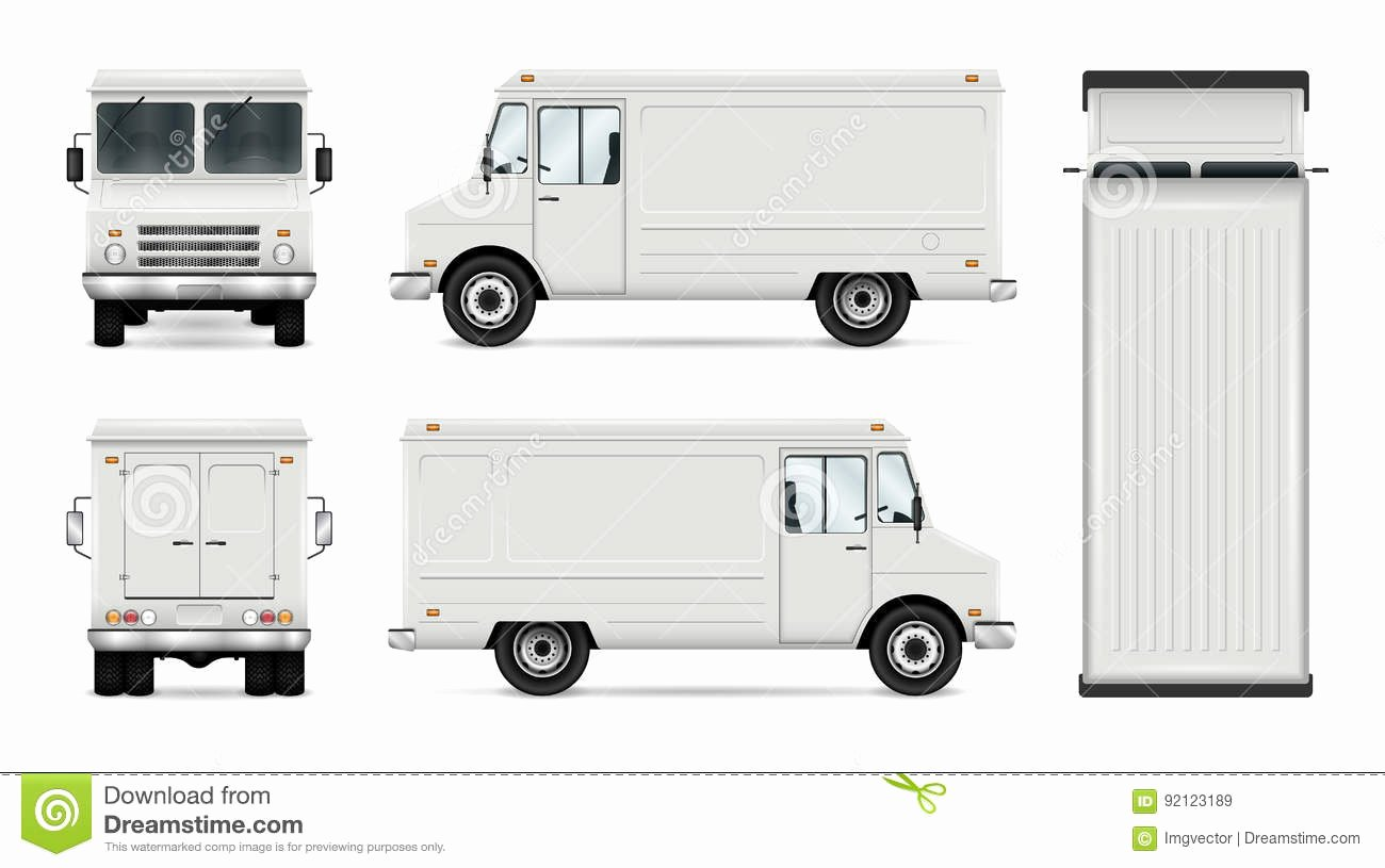 Food Truck Layout Template Luxury Food Truck Vector Template Stock Vector Illustration Of