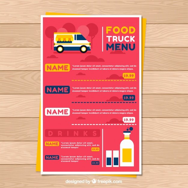 Food Truck Layout Template Luxury Food Truck Vectors S and Psd Files