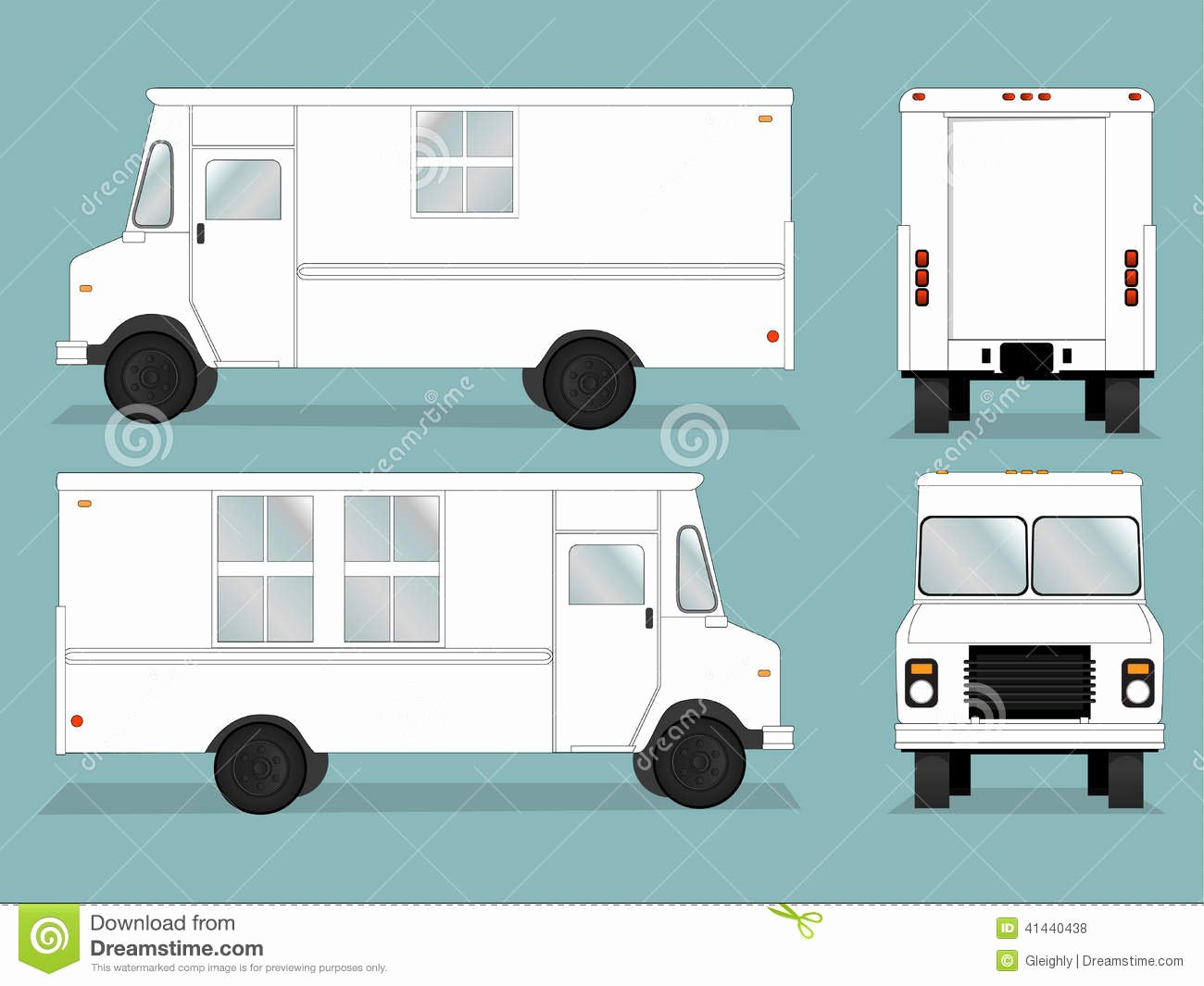 Food Truck Layout Template New Food Truck Template Stock Vector Illustration Of Drawing