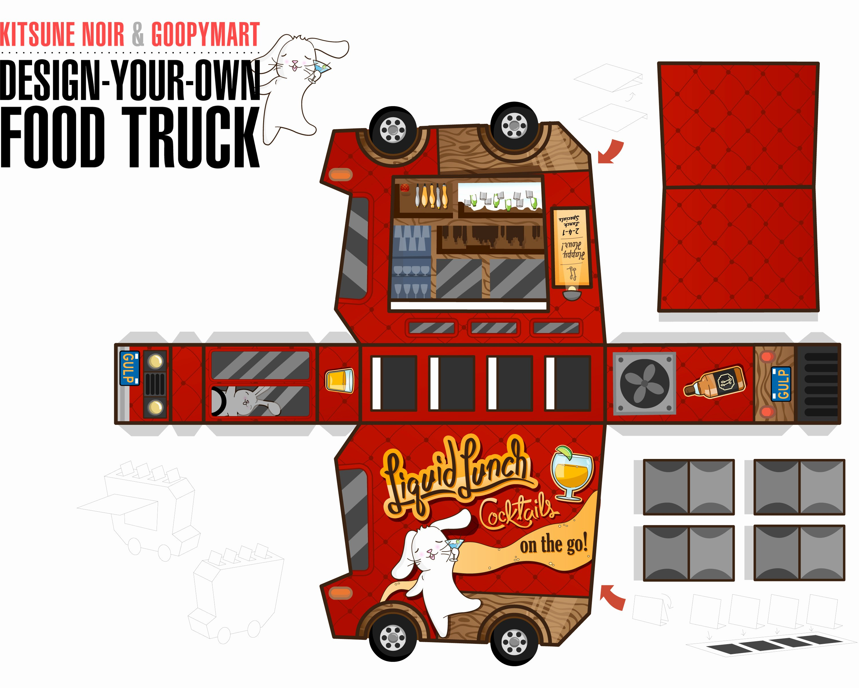 Food Truck Layout Template New Kitsune Noir & Goopymart Food Truck Winners the Fox is Black