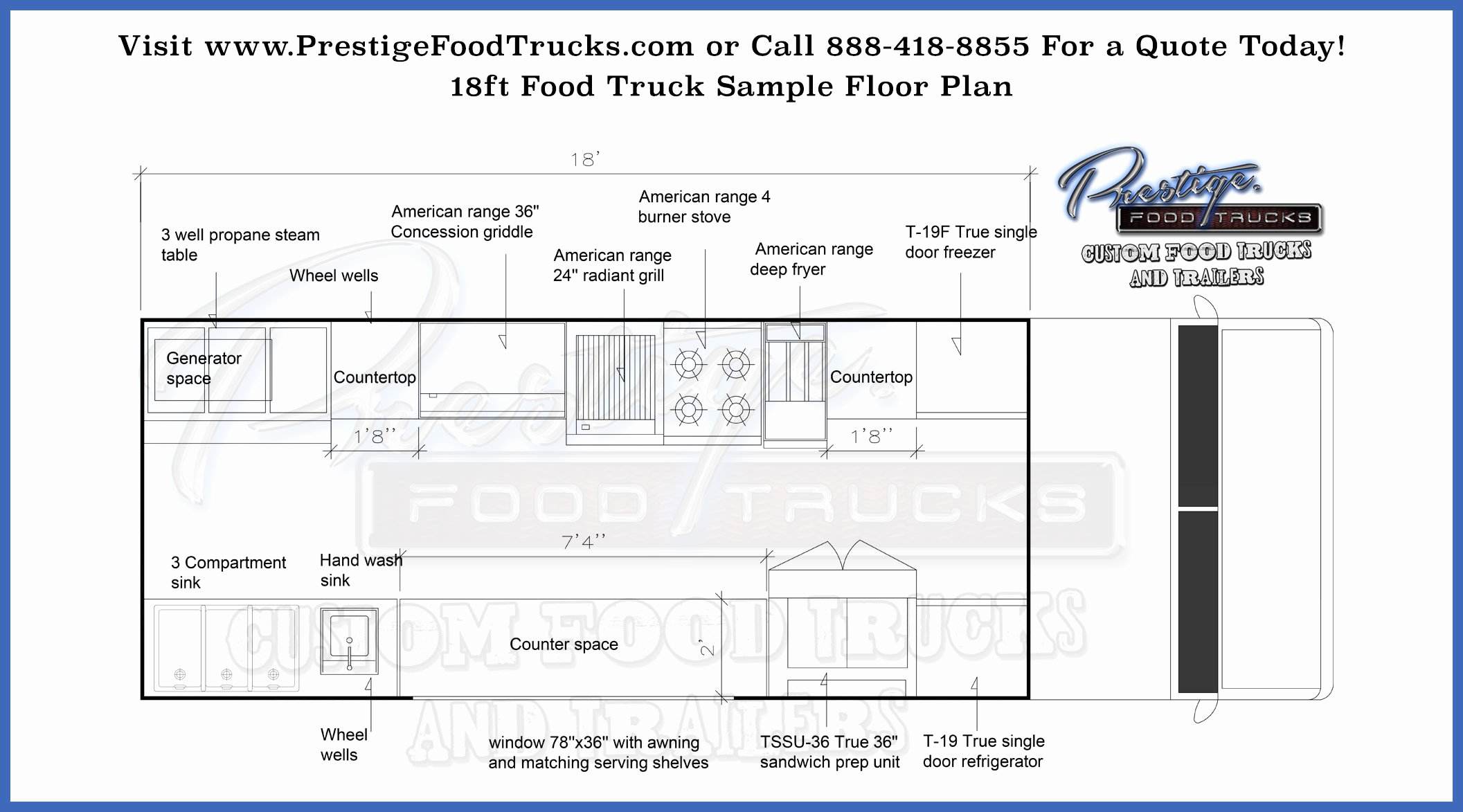 Food Truck Layout Template Unique Custom Food Truck Floor Plan Samples