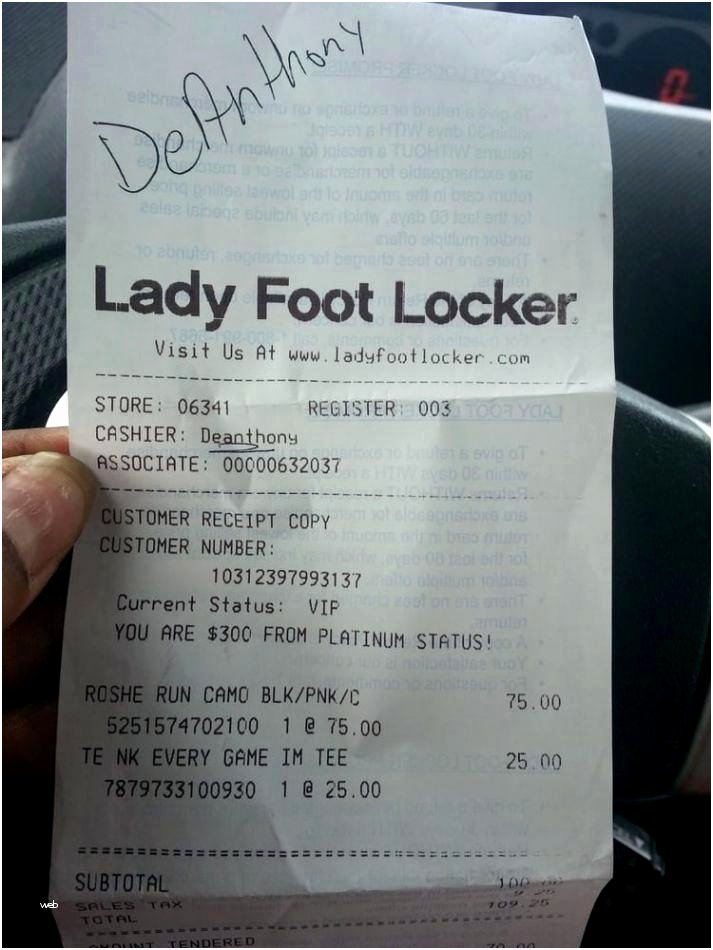Foot Locker Receipt Template Best Of Foot Locker Receipt Template Best Restaurant Receipts