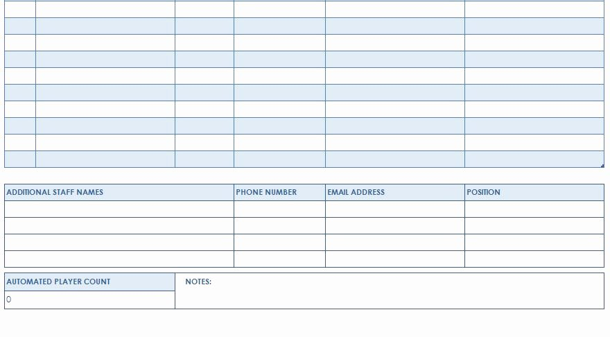 Football Depth Chart Template Excel format Best Of Football Roster Template