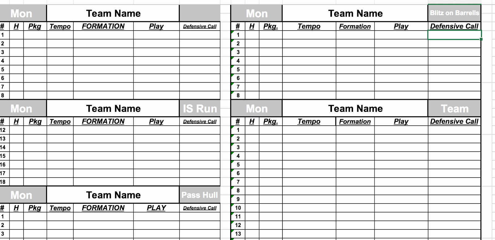 Football Depth Chart Template Excel format Fresh 30 Of Football Game Plan Template