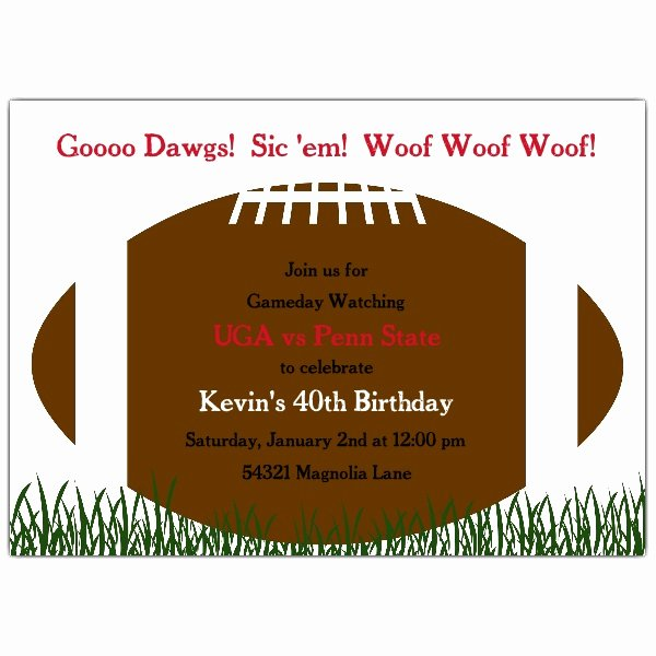 Football Party Invitation Template Awesome Football Kick F Invitations