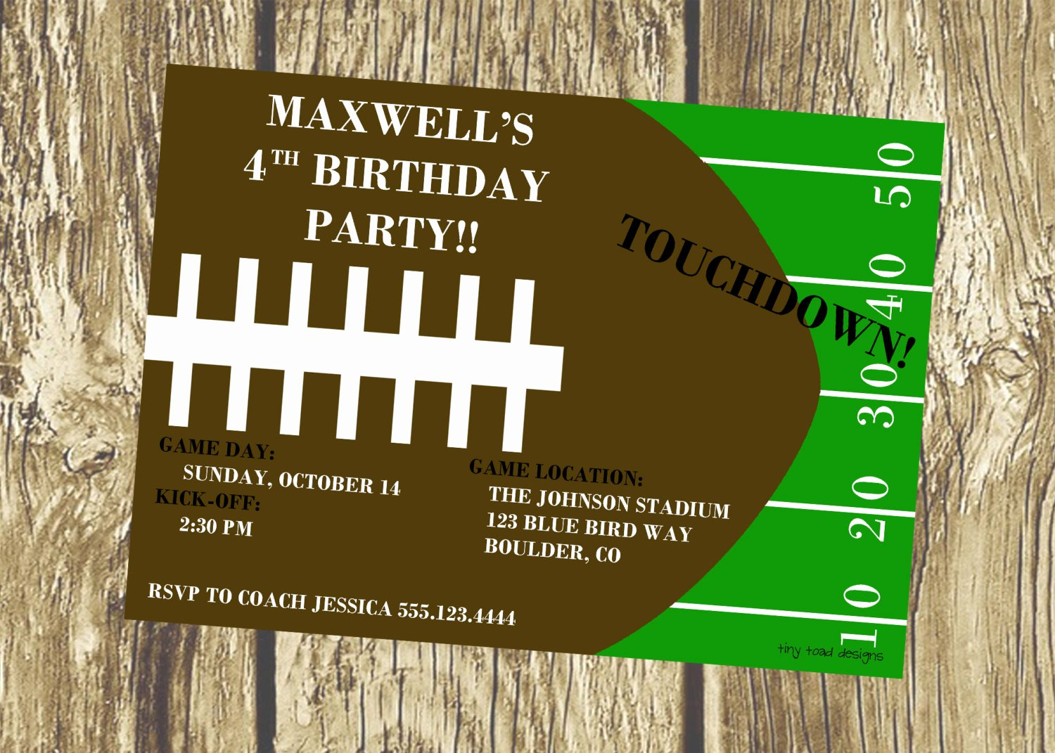 Football Party Invitation Template Awesome Printable Football Birthday Invitations