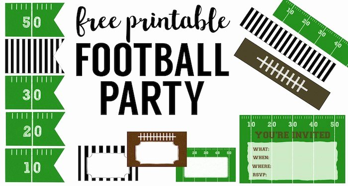 Football Party Invitation Template Best Of Free Printable Football Decorations Football Party
