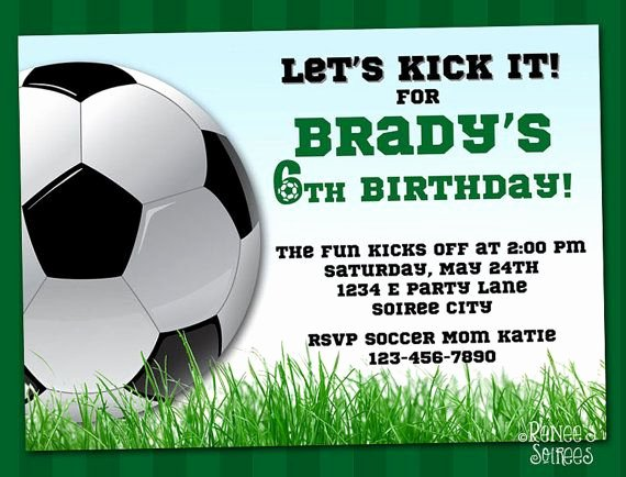 Football Party Invitation Template Best Of soccer Invitation Printable Football Birthday Invite