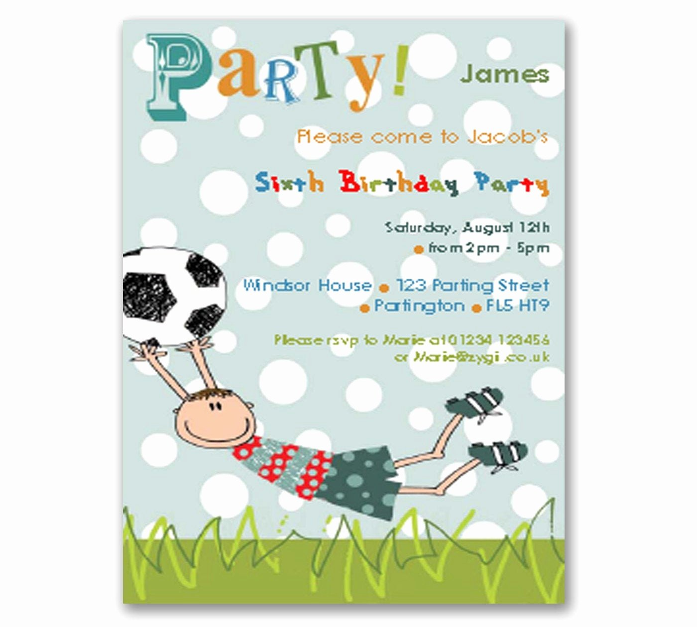 Football Party Invitation Template Elegant Football Printable Diy Party Invitation Editable Instant
