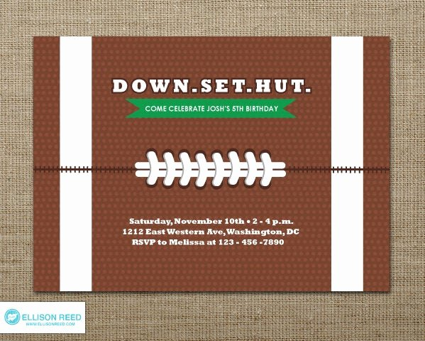 Football Party Invitation Template Fresh Football Invitation Football Party Football Birthday