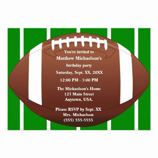 Football Party Invitation Template Inspirational Football Birthday Invitation Templates
