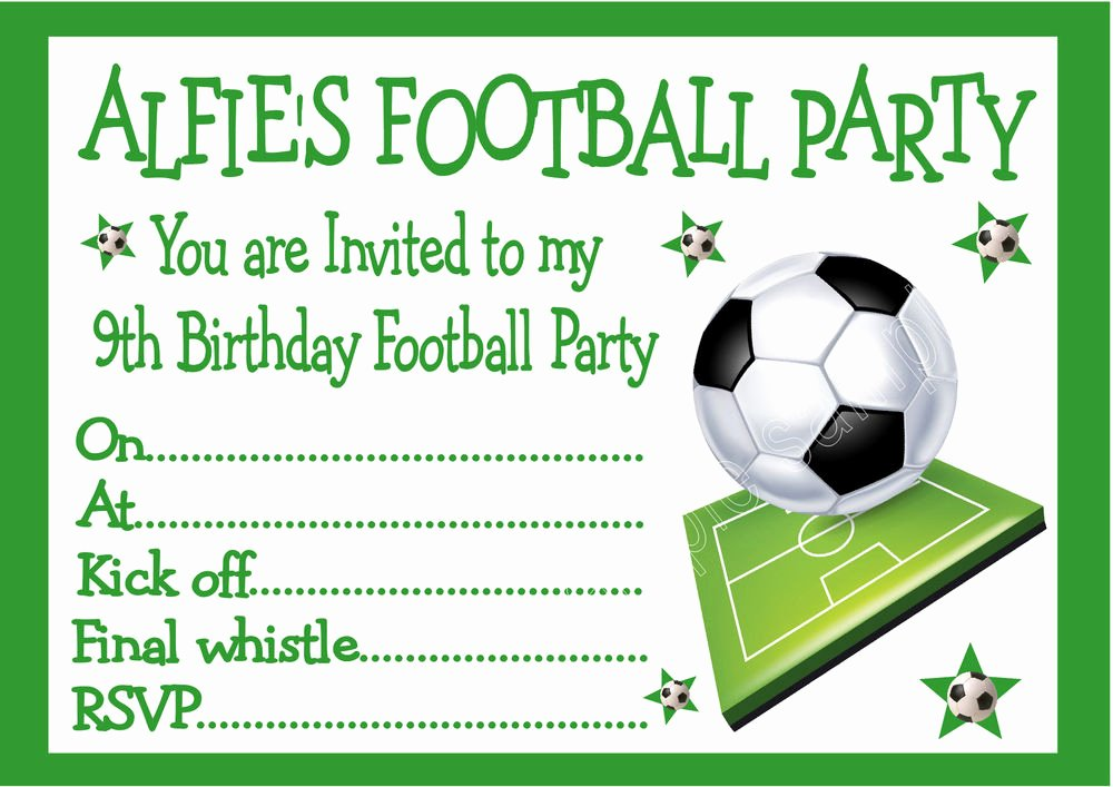 Football Party Invitation Template Luxury Football Birthday Party Invitations Kinderhooktap