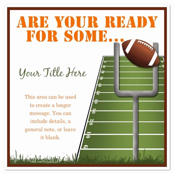 Football Party Invitation Template Luxury Football Tailgate Invitation Templates