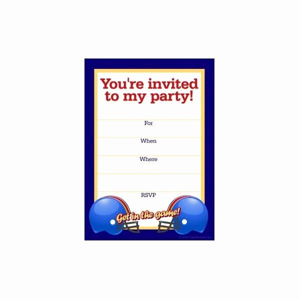 Football Party Invitation Template New Free Football Party Templates to Download From Line sources