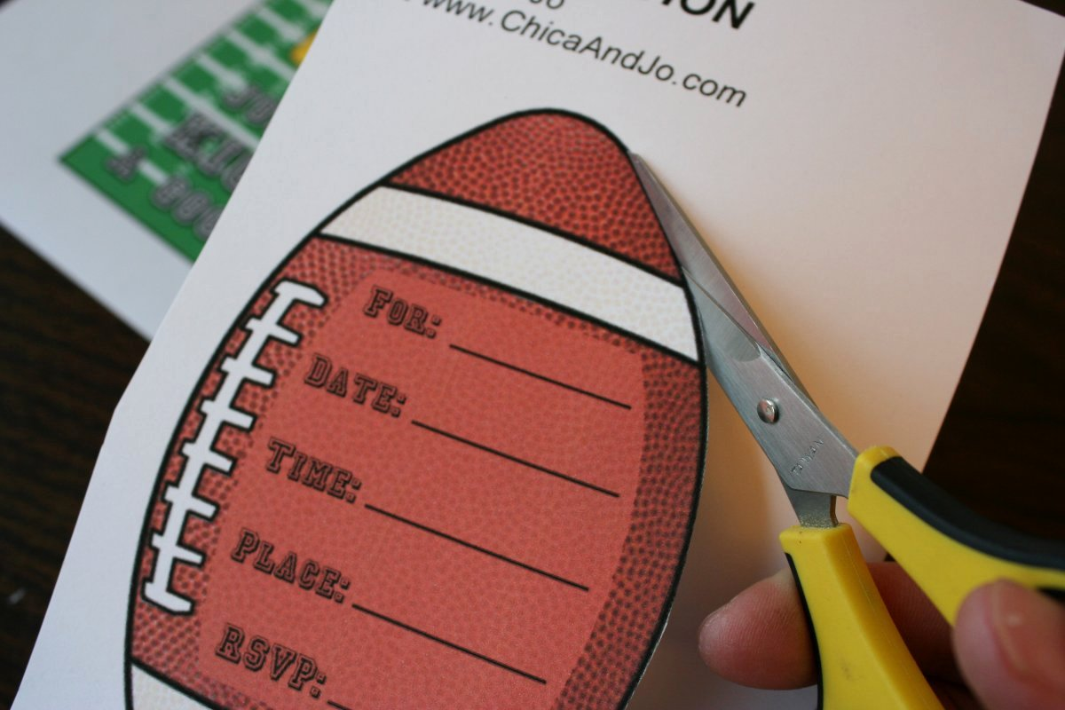 Football Party Invitation Template Unique Football Party Invitation