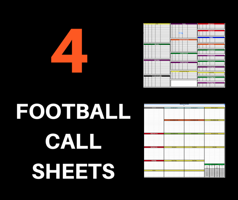 Football Play Call Sheet Template Best Of 4 Football Call Sheets Free to and Print Pro