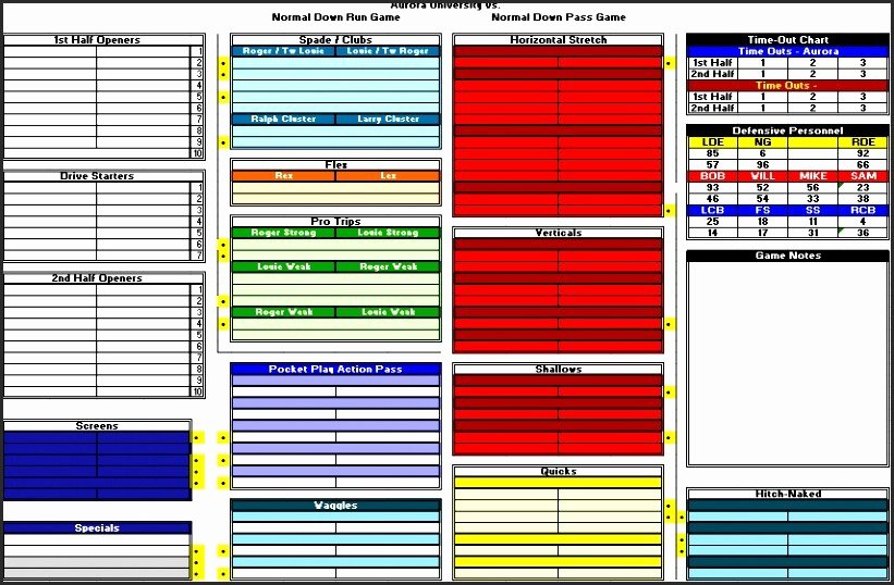 Football Play Sheet Template Fresh Football Game Day Play Sheet Template tools and Resources