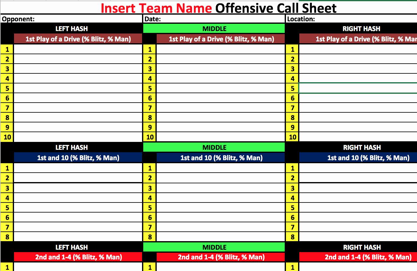 Football Play Sheet Template Inspirational Coach Vint Four Keys to Fensive organization