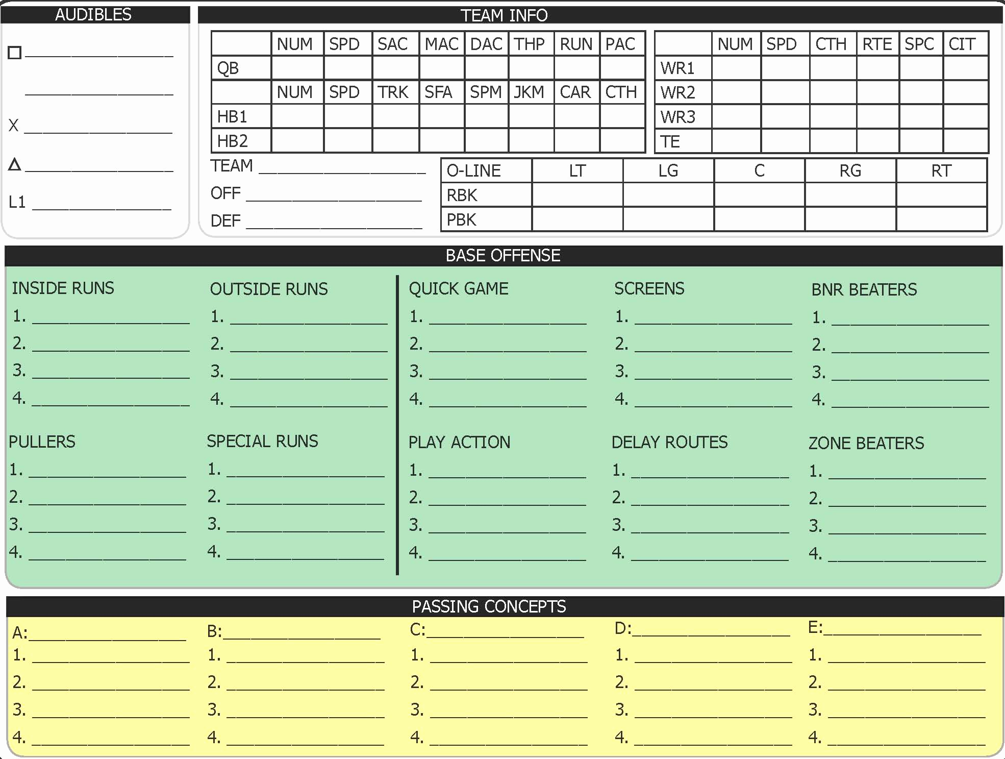 Football Play Sheet Template Lovely Oplaycall1 – Elite Madden 18 Tips & Madden Cheats From Pro