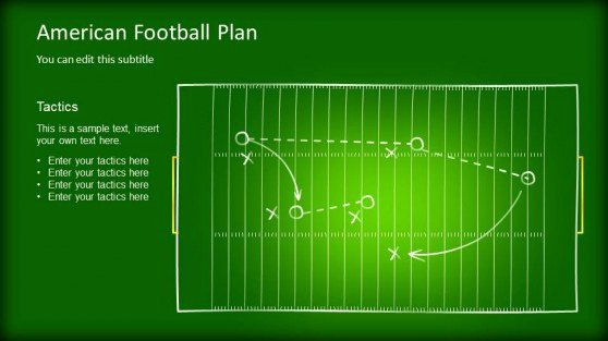 Football Play Template Inspirational Editable Game Plan Template for Powerpoint Slidemodel