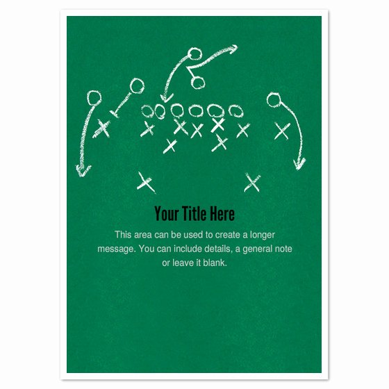 Football Play Template Printable Best Of Football Play Invitations & Cards On Pingg