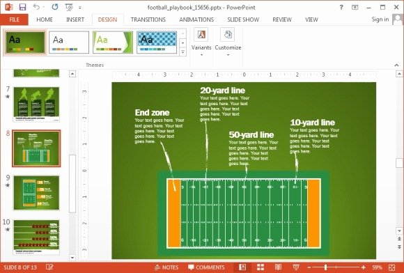 Football Playbook Template Best Of Animated Football Playbook Powerpoint Template