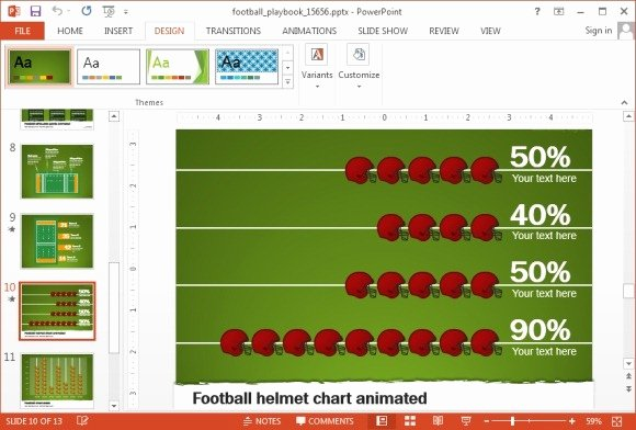 Football Playbook Template Luxury Animated Football Playbook Powerpoint Template