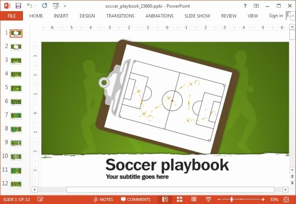 Football Playbook Template New Animated soccer Playbook Powerpoint Templates