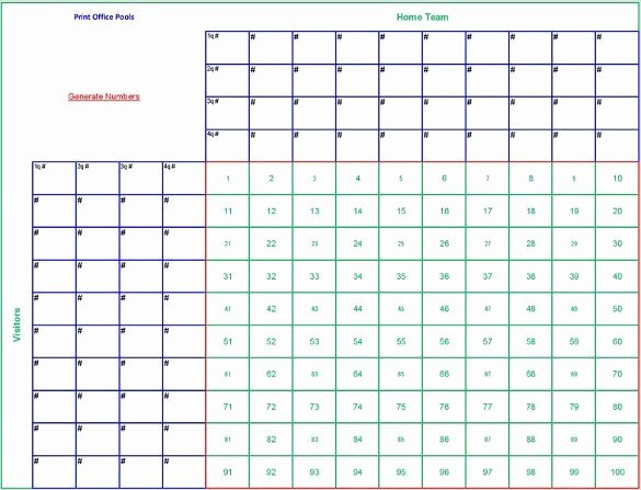 Football Pool Sheets Excel New Free 6 Blank Printable Football Squares Template Download