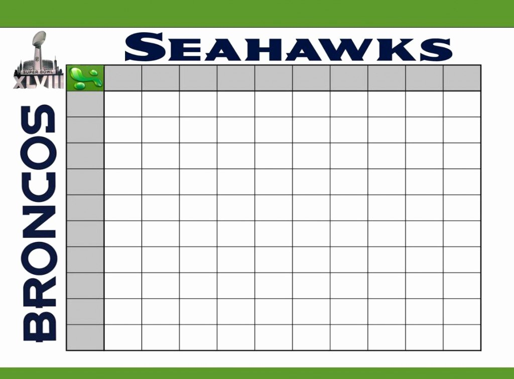 Football Pool Sheets Excel New Super Bowl Squares Template