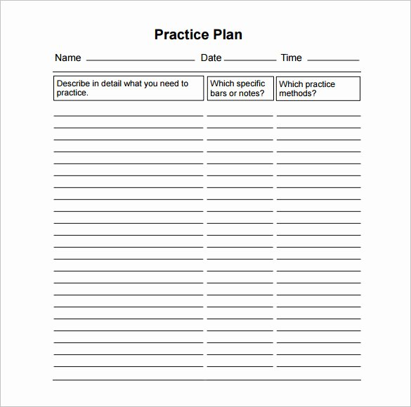 Football Practice Plan Template Excel Lovely 11 Practice Schedule Templates Doc Pdf