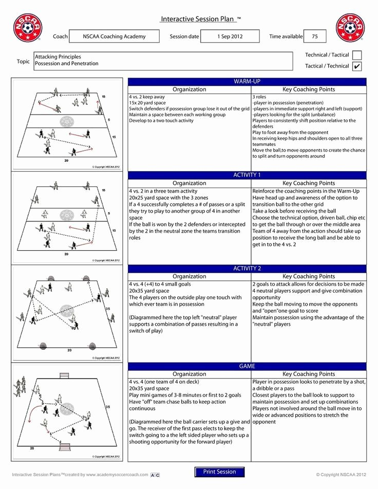 Football Practice Plan Template Excel Luxury Pin by Nivla On soccer