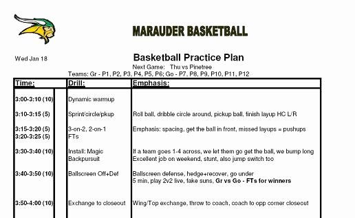 Football Practice Schedule Template Beautiful 29 Of Basketball Game Practice Template