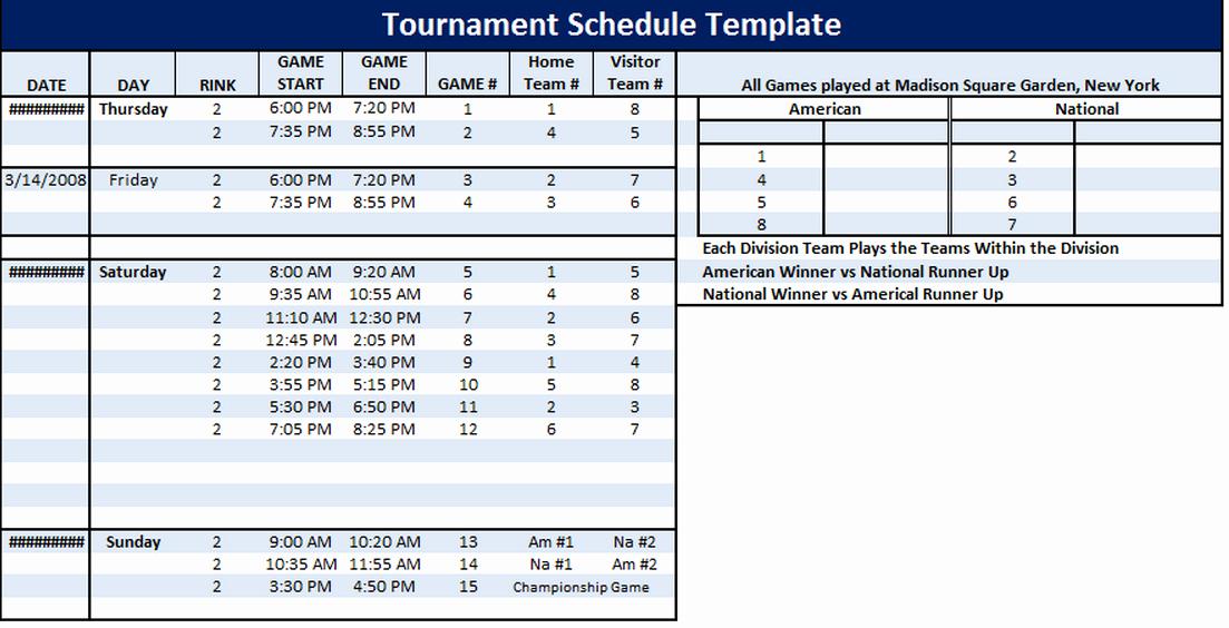 Football Practice Schedule Template Download Awesome tournament Schedule Template 6 Free Templates Schedule