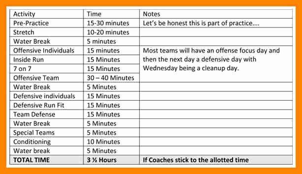 Football Practice Schedule Template Download Beautiful 28 Of Football Practice Template Printable