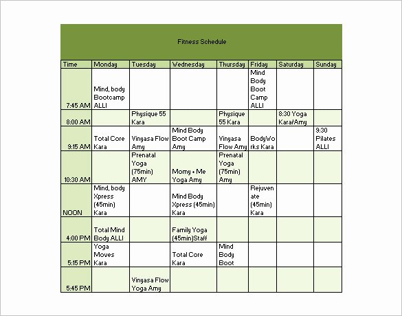 Football Practice Schedule Template Download Elegant Dumbbell Workout Chart Pdf