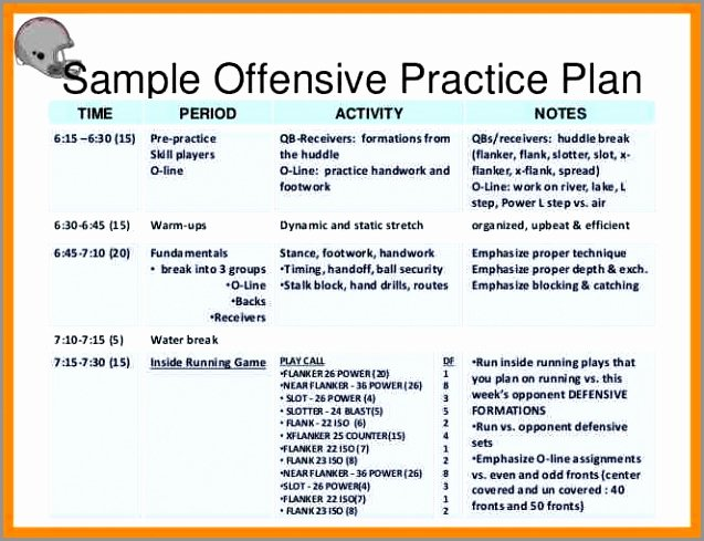 Football Practice Schedule Template Fresh 6 Wrestling Practice Plan Template Wyeop