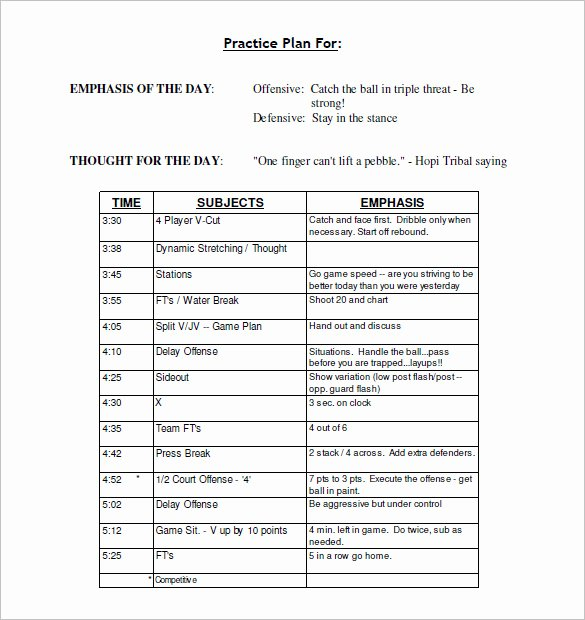 Football Practice Schedule Template Inspirational 13 Practice Schedule Templates Word Excel Pdf