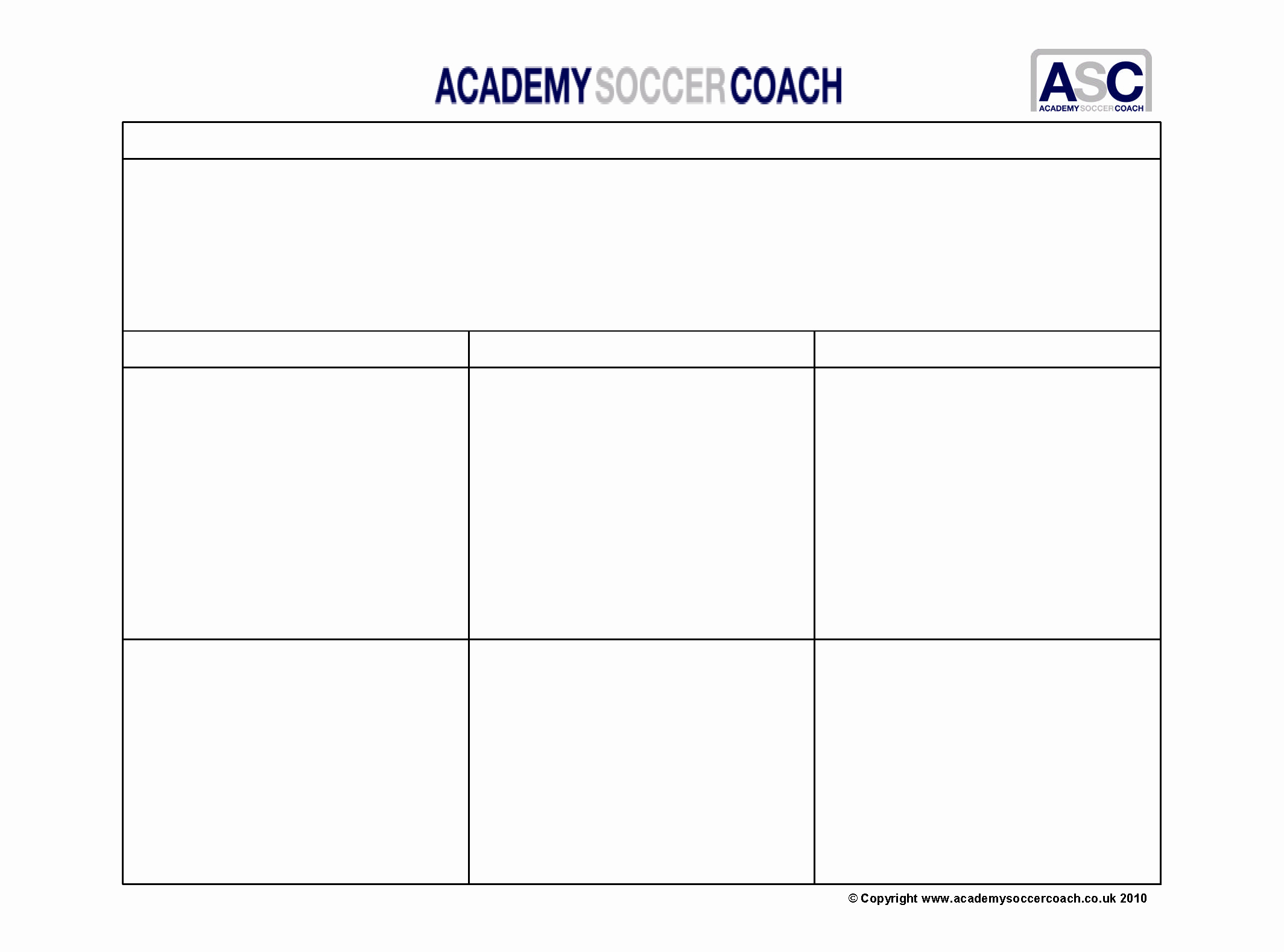 Football Practice Template Beautiful Free Downloads Academy soccer Coach