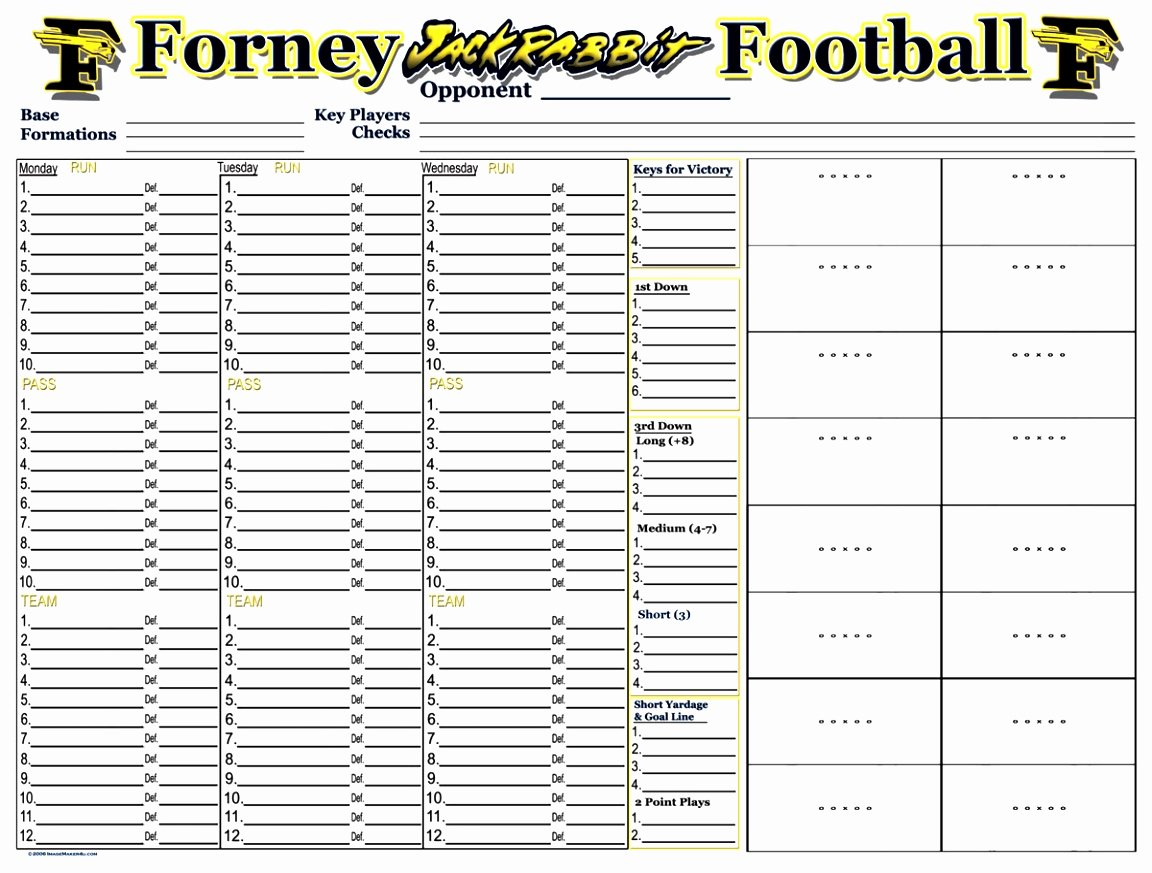 Football Practice Template Fresh 12 Youth Football Practice Plans Templates byooy